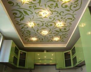Оригинальный дизайн бесшовного натяжного потолка, компания Классика в Новосибирске